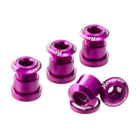 REVERSE Chainring Bolt Set purple